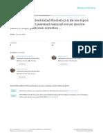Analisis de La Diversidad Floristica y de Los Tipos Productivos Del Pastizal Natural en Un Monte Nativo Bajo Pastoreo Rotativo Entre Ríos, Argentina