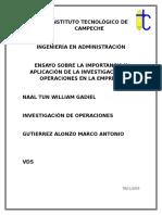 Ensayo Investigacion de Operaciones