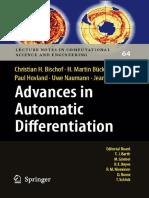 Bischof Et Al -Advances in Automatic Differenti
