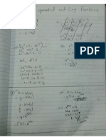 Exponential and Log. Function Answers