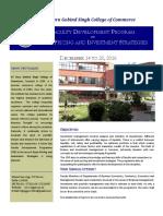 SGGSCC FDP 2016