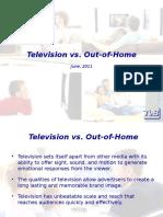 Television vs. OOH