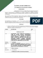 Resolución No. 203-2007 (Modif. Arancelarias Semillas, Hilo, Microbuses)