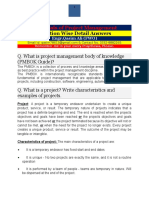 Notes Essentials of Project Management