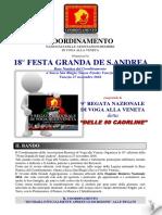 Bando Programma e Regolamenti Sant'Andrea 2016