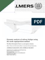 Dynamic Analysis of Railway Bridges Using the Mode Superposition Method