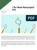 A Checklist for More Persuasive Presentations