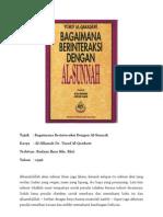 (Rumusan Bab 3) Bagaimana Berinteraksi Dengan As-Sunnah_Dr. Yusuf Al-Qardawi