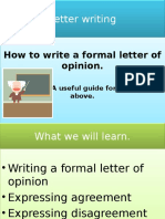 Letter of Opinion