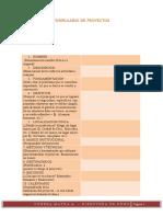 Formulario de Proyectos