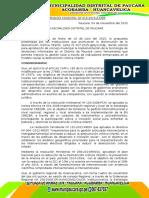 Ordenanza Municipal Nº 016