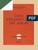 Joseph Kessel - Tous n'Étaient Pas Des Anges