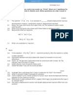 Tenth Grade CBSE (India) Science-Model Paper