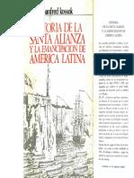 Kossok, Manfred (1968) - Historia de La Santa Alianza y La Emancipación de América Latina