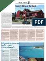 Interested in a gourmet kosher cruise? Travel Trends, Jerusalem Post, June 13 ,2010