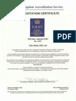 TSSS ISO17025 Certificate 2014