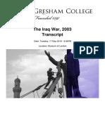 The Iraq War 2003