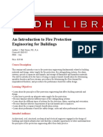 An Introduction to Fire Protection Engineering for Buildings