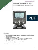 Configurar grupos YN560TX