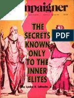 Secrets Known Only To The Inner Elites - Lyndon H LaRouche, Jr (1978)