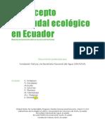 EL CONCEPTO DE CAUDAL ECOLÓGICO EN ECUADOR
