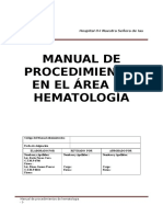 Manual de Procedimientos de Hematóloga
