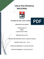 Informe de Compactacion Proctor
