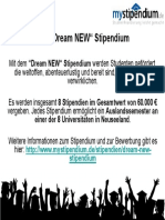 Dream NEW-Stipendium, Auslandssemester Neuseeland