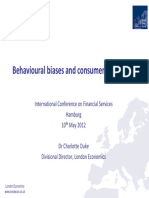 Behavioural Biases and Consumer Detriment