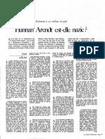 HArendt Est Ellenazi?NObservateure1963