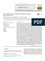 1#the Development of a Model to Predict Feed Intake by Growing Cattle 2013 Livestock Science