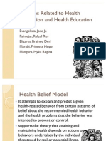 Theories related to health promotion and health education
