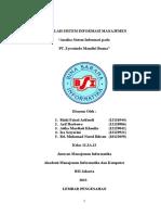 Makalah Sistem Informasi Manajemen Analisa Sistem Informasi pada  PT. Zyrexindo Mandiri Buana