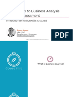 1 Business Analysis Needs Assessment Introduction m1 Slides
