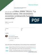 Resena Del Libro ENRIC TELLO La Historia Cuenta De