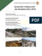 Plan de Prevención y Reducción de Riesgos de Desastres 2016 - 2018actual