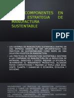 componentes en una estrategia de manufactura sustentable