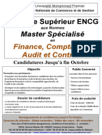 Affiche Cycle Superieur FCAC ENCGO_2016