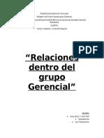 Informe de Relaciones Gerenciales