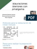 Restauraciones Posteriores Con Amalgama