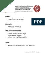 Informe de Estadistica Aplicada