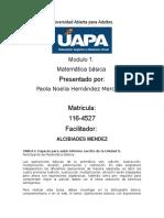 Tarea 1 de Matematica Basica UAPA