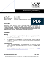Records Management Policy