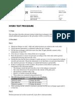 Hydro Test Procedure for Heat Exchanger