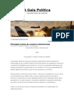 Principais Teorias de Comércio Internacional