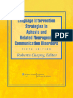 Roberta Chapey-Language Intervention Strategies in Aphasia and Related Neurogenic Communication Disorders-Lippincott Williams & Wilkins (2008)