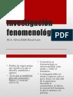 6. Investigación fenomenológica