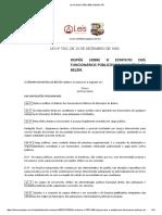 Lei Ordinária 7502 1990 de Belém PA