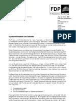 Argumentationspapier der FDP zum Sparpaket