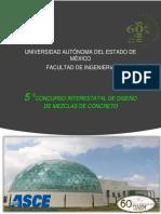5to. Concurso Interestatal de Diseño de Mezclas de Concreto